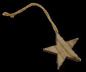 pbh. 6 wooden stars/hanging natural 6 cm