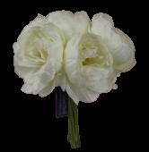 26cm Cream Peony Posy