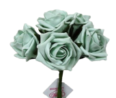 Foam Colourfast Cottage Rose x 6 Ice Green