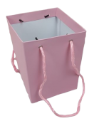 Olympic Bouquet Box 25 x 18 x 18cm - Rope Handles Pink x 10