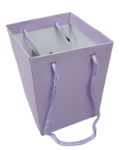 Olympic Bouquet Box 25 x 18 x 18cm - Rope Handles Lilac x 10