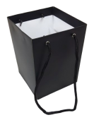 Olympic Bouquet Box 25 x 18 x 18cm - Rope Handles Black x 10