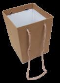 Olympic Bouquet Box 25 x 18 x 18cm - Rope Handles Kraft x 10