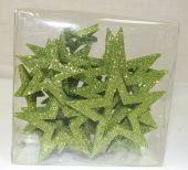Glitter Stars Open Assorted Sizes Green