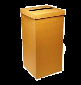 Natural Brown Silk Square Post Box 250 x 250 x 500mm