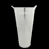 55 x 27cm Galvanised Vase W/Ears