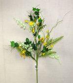 Daisy/Forsythia Spray 80cm Yellow