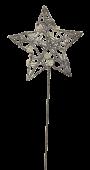 Glittered Star Wand Silver 7 x 30cm
