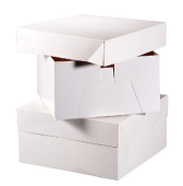 "16"" Cake Sq. Box White 406x406x152mm"