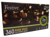 360 Warm White Led Lights W/ 8 Multifunction Timer