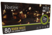 80Lv Warm White Led W/ 8 Multi Function With Timer