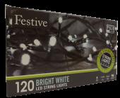 120Lv White Led Lights W/ 8 Multifunction - Timer