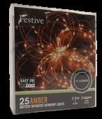 25 Bo Dewdrop Lights - Amber Led