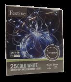 25 Bo Dewdrop Lights - White Led