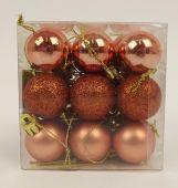 27 Plastic Balls Combi Copper Combi 30 Mm