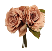 24cm Bisque Open Rose Posy