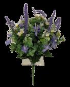 36cm Daisy/Lavender/Blossom Bouquet