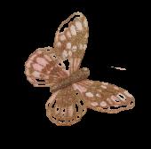 10cm Glitter Butterflies (12 Per Pack On 20cm Wire)Rose Gold