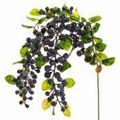 Foliage Haning Berry Spray Purple Gb 55cm