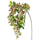 Foliage Hanging Berry Spray Green Gb 55cm