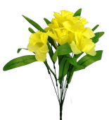 48cm Daffodil Bush W/9 Heads Yellow