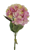64cm Hydrangea With 4 Leaves Pink