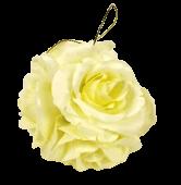 11cm Cream Satin Rose Ball