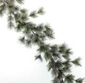 180cm Flocked Pine Garland Green