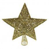 30Cm Star Tree Topper Gold