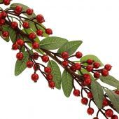 160cm Baneberry Garland Red