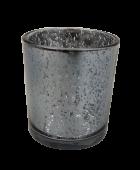 Glass Medium Silver Candle Holder 7 x 9cm