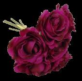 26cm Cerise Open Rose Bouquet