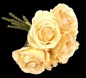 26cm Peach Open Rose Bouquet