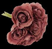 26cm Puce Open Rose Bouquet