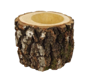 Pot Birch H16cm/ dia 15-17cm Natural