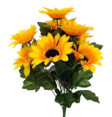 42cm Sunflower Bouquet x 10 Heads