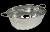 26cm Galvanised Oval Bowl W/Ears