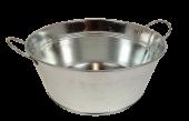 24cm Galvanised Round Bowl W/Ears