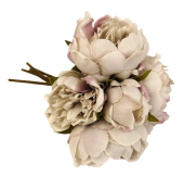 28cm Lilac Peony Posy x 5 Heads