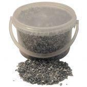 3.5kg Bucket 2-4mm Glass Sand Silver