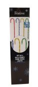 62Cm 4 Candy Cane Stake Lights