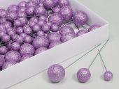 W/B. 100 Glitterballs/Wire, Purple Haze, 20/30/40 Mm