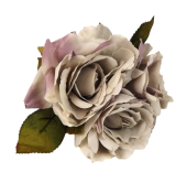 24cm Open Rose Posy x 3 Heads Lilac