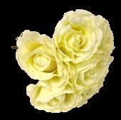 26cm Open Rose x 7 Heads Cream