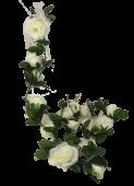 Rose Garland Green/White 182cm