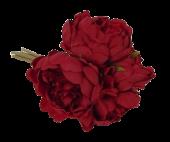 24cm Red Peony Posy