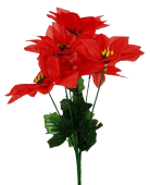 Pointsettia Bush Red 30cm x 7 Heads