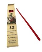 Flower Candle X 12 Rubin Red