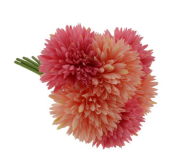 24cm Spiky Chrysanthemum Bundle Pink