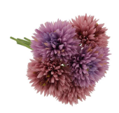 24cm Spiky Chrysanthemum Bundle Lilac